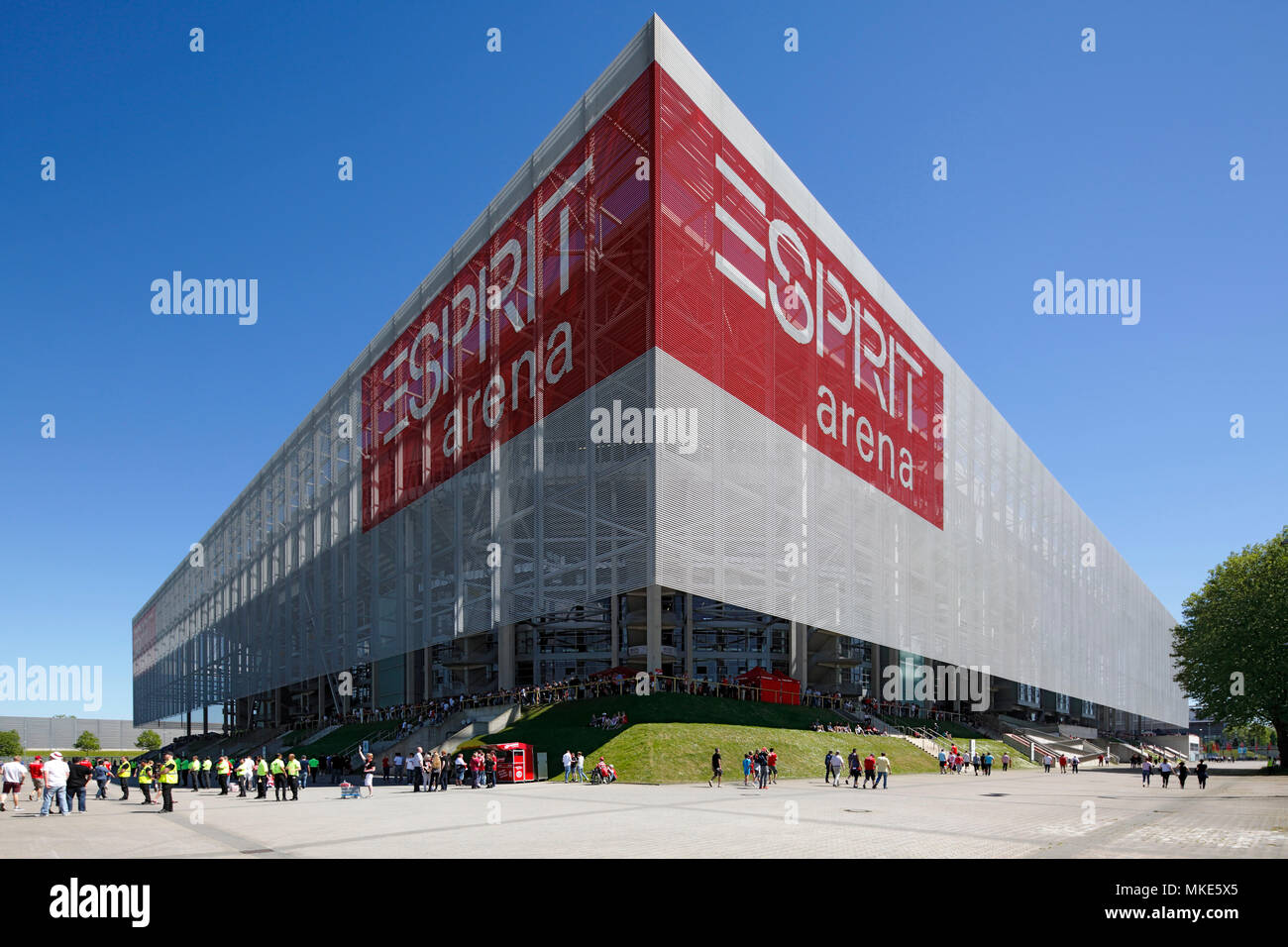 sports,football,2. Bundesliga,2017/2018,Fortuna Duesseldorf vs Holstein Kiel 1:1,Esprit arena Duesseldorf,stadium view - Stock Image