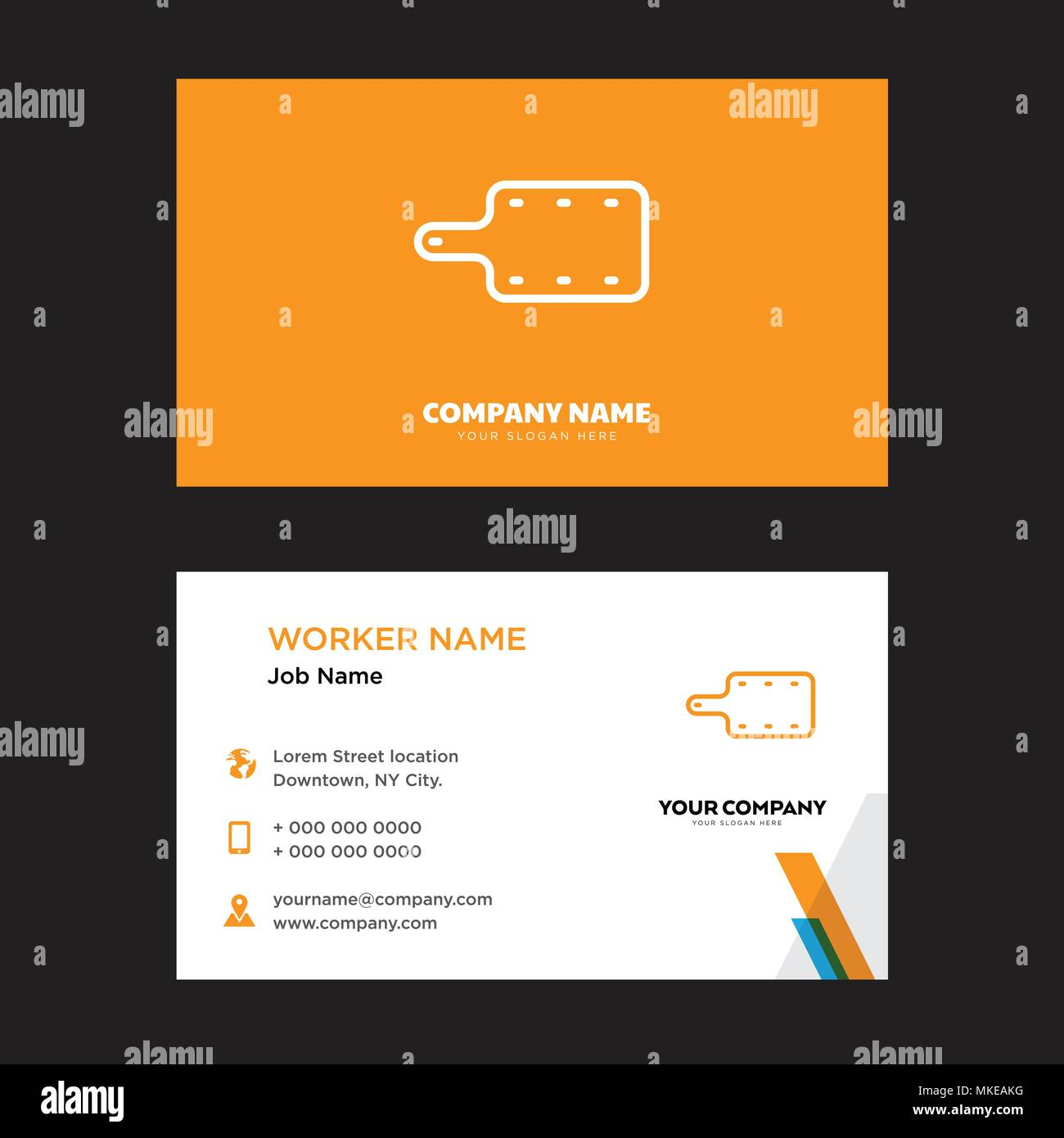 Kitchen Board Business Card Design Template Visiting For Your