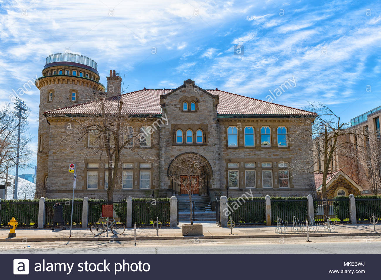 Munk School of Global Affairs, facade or entrance to the old architecture building located in Bloor Street West. - Stock Image