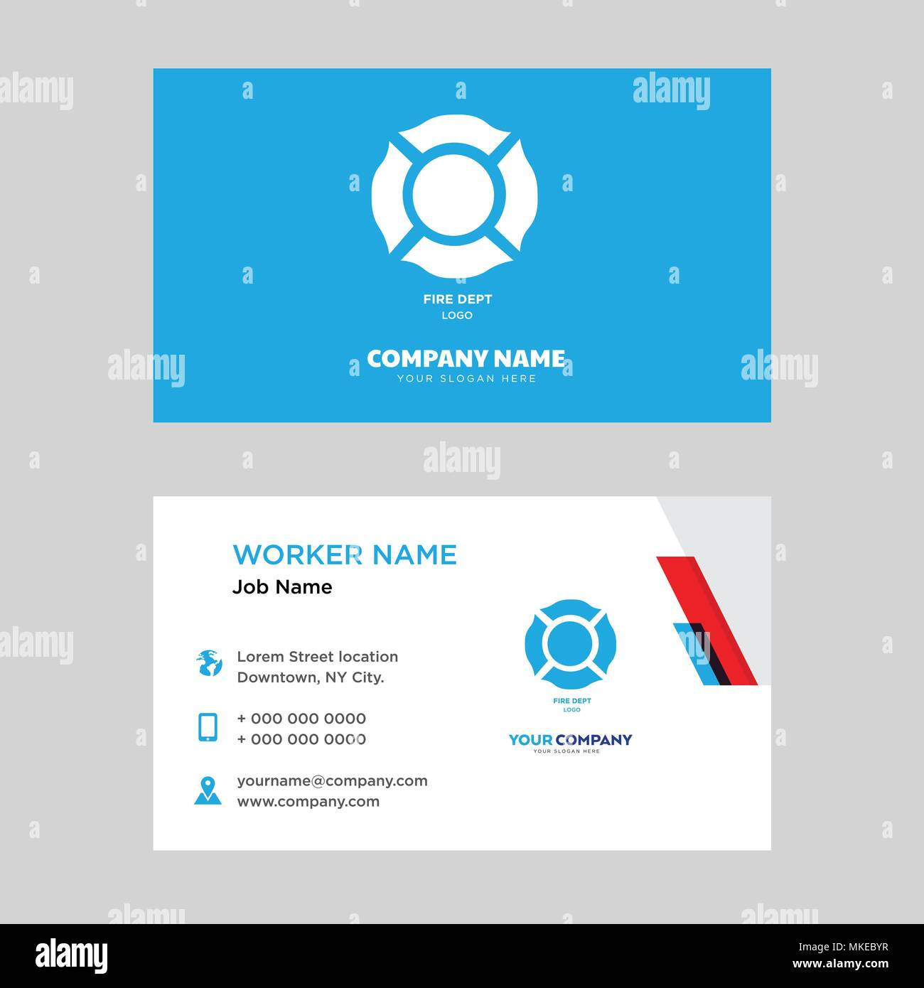 fire dept business card design template visiting for your company