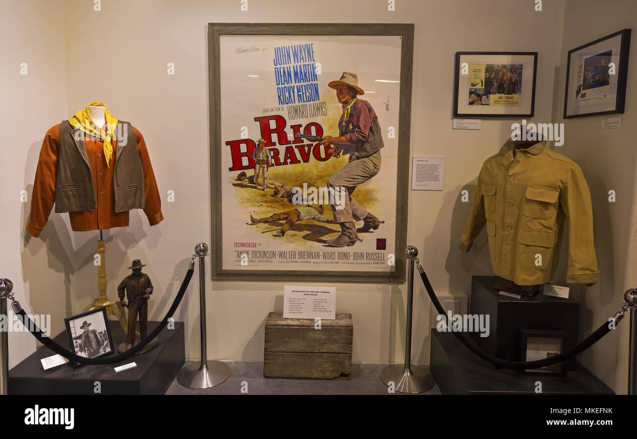 Rio Bravo Classic Western Movie Staring John Wayne Display in Lone Pine, California Film History Museum - Stock Image