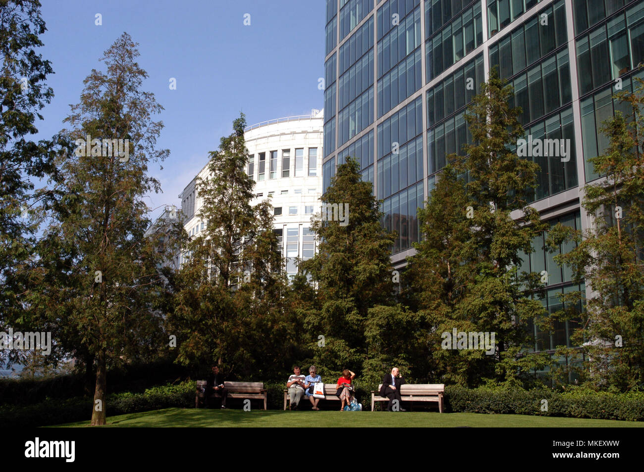 Canary Wharf is well known for being the heart of the uk banking giants - Stock Image
