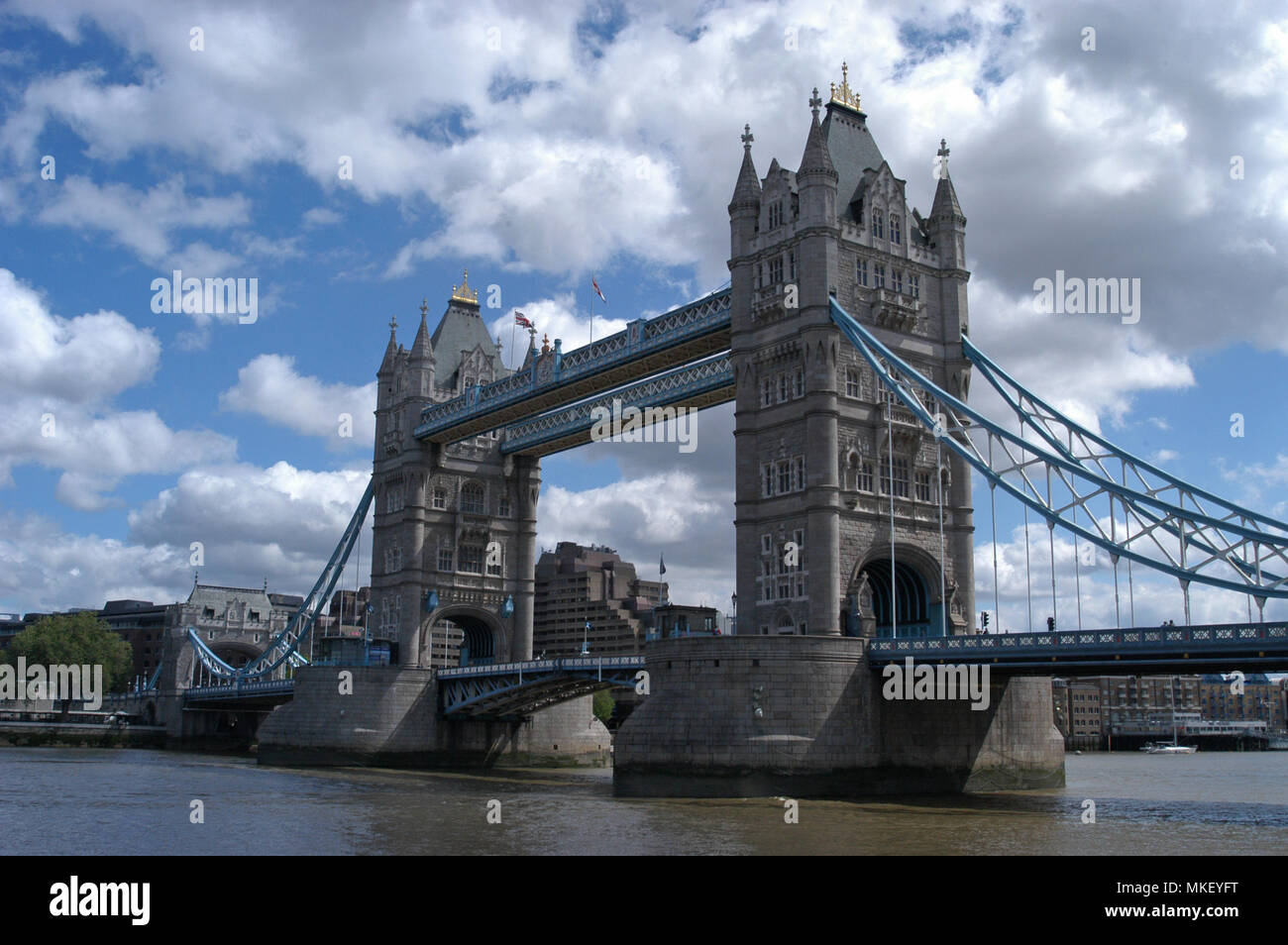 built over 120 years ago, Tower Bridge the most famous bridge in the world - Stock Image