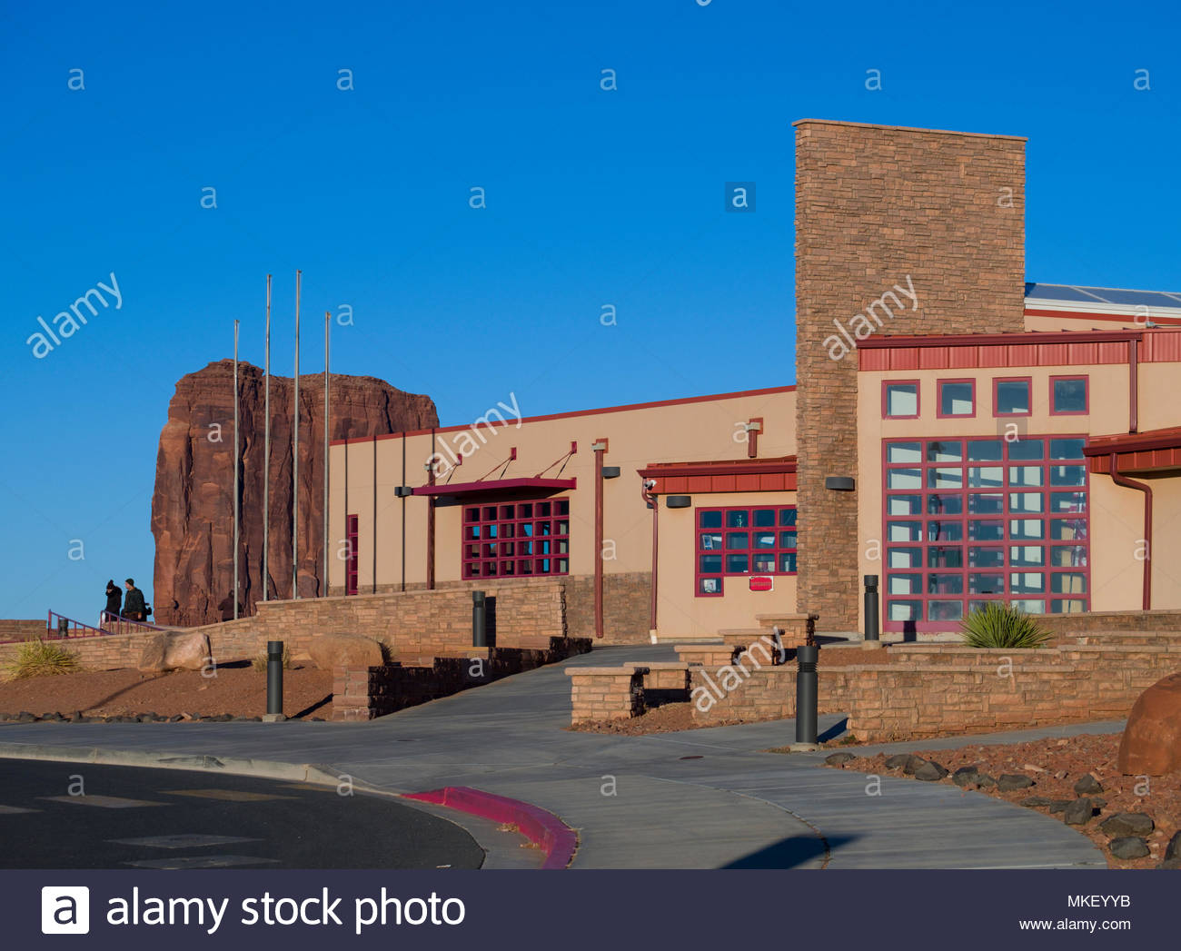 Visitors Center Monument Valley, Navajo County, Arizona, USA Stock Photo