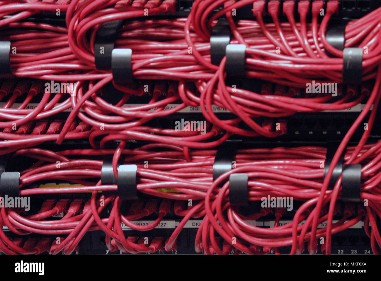 Wiring Loom Stock Photos Images Alamy A320 Harness Rear Of Computer Server Showing Image
