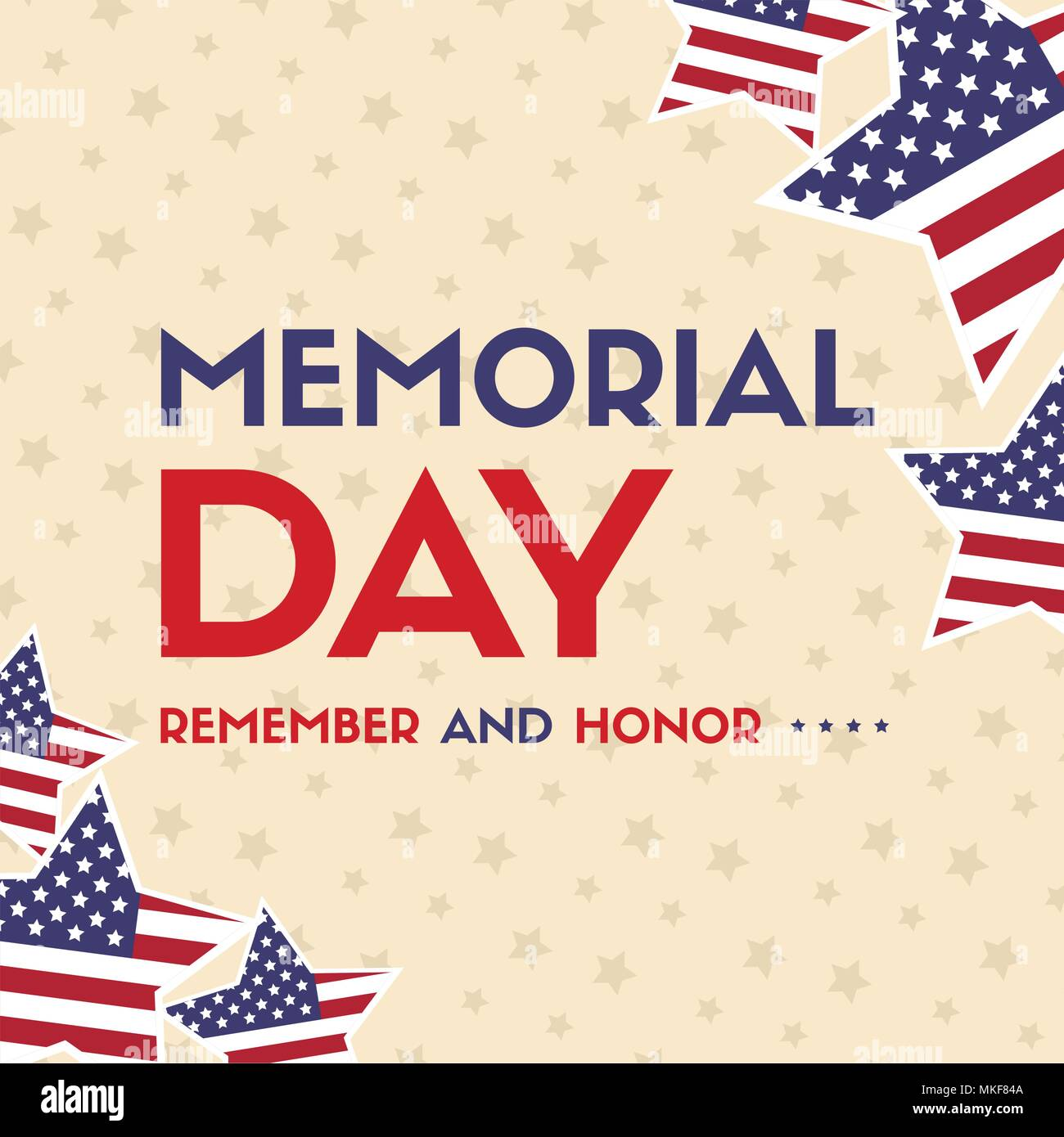 Flag day card stock photos flag day card stock images alamy happy memorial day greeting card with flag stock image m4hsunfo