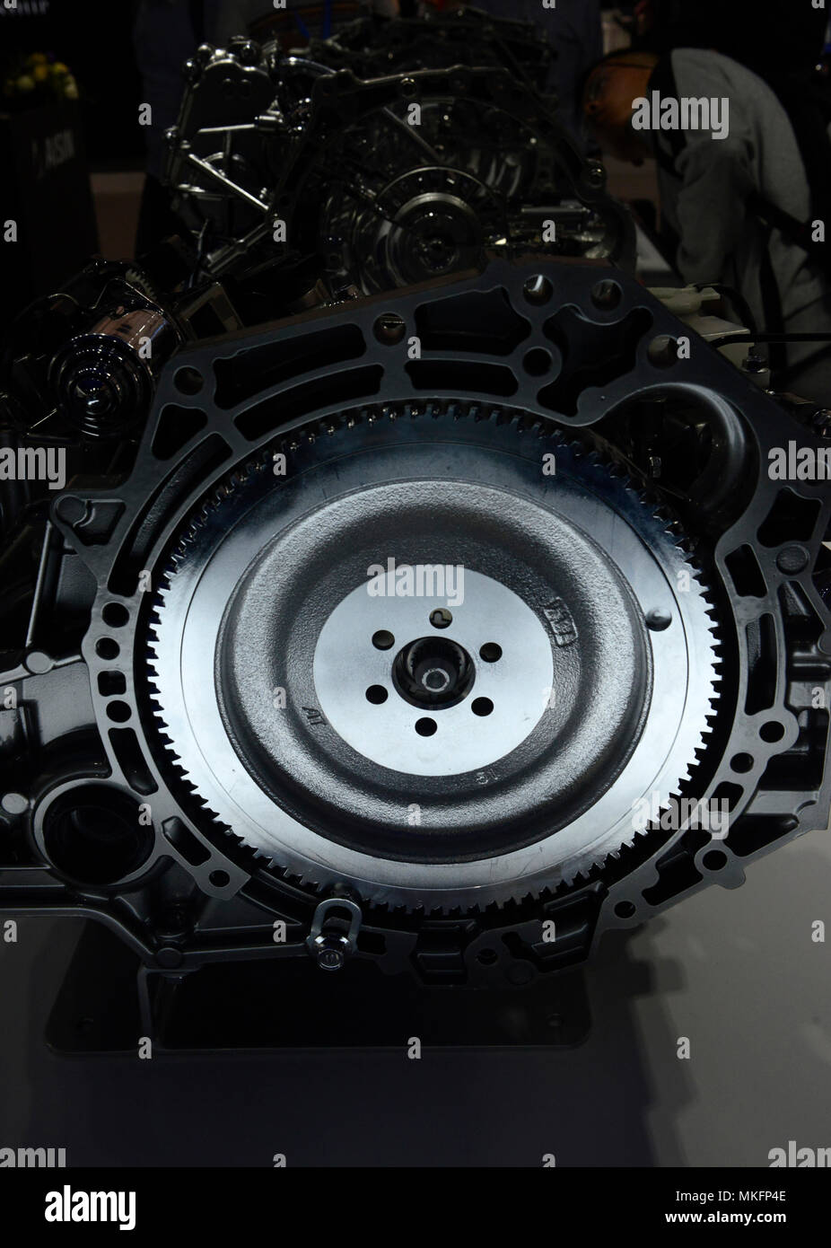 An Automatic Transmission On The Aisin Stand At The Auto China 2018 Show In Beijing China Stock Photo Alamy