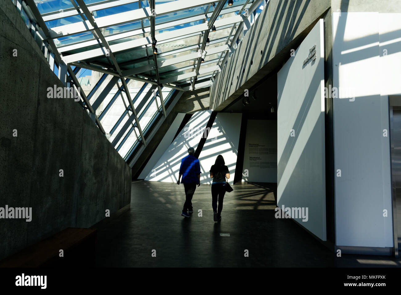 Modern architecture in the Claire and Marc Bourgie Pavilion of the Montreal Fine Arts Museum - Stock Image