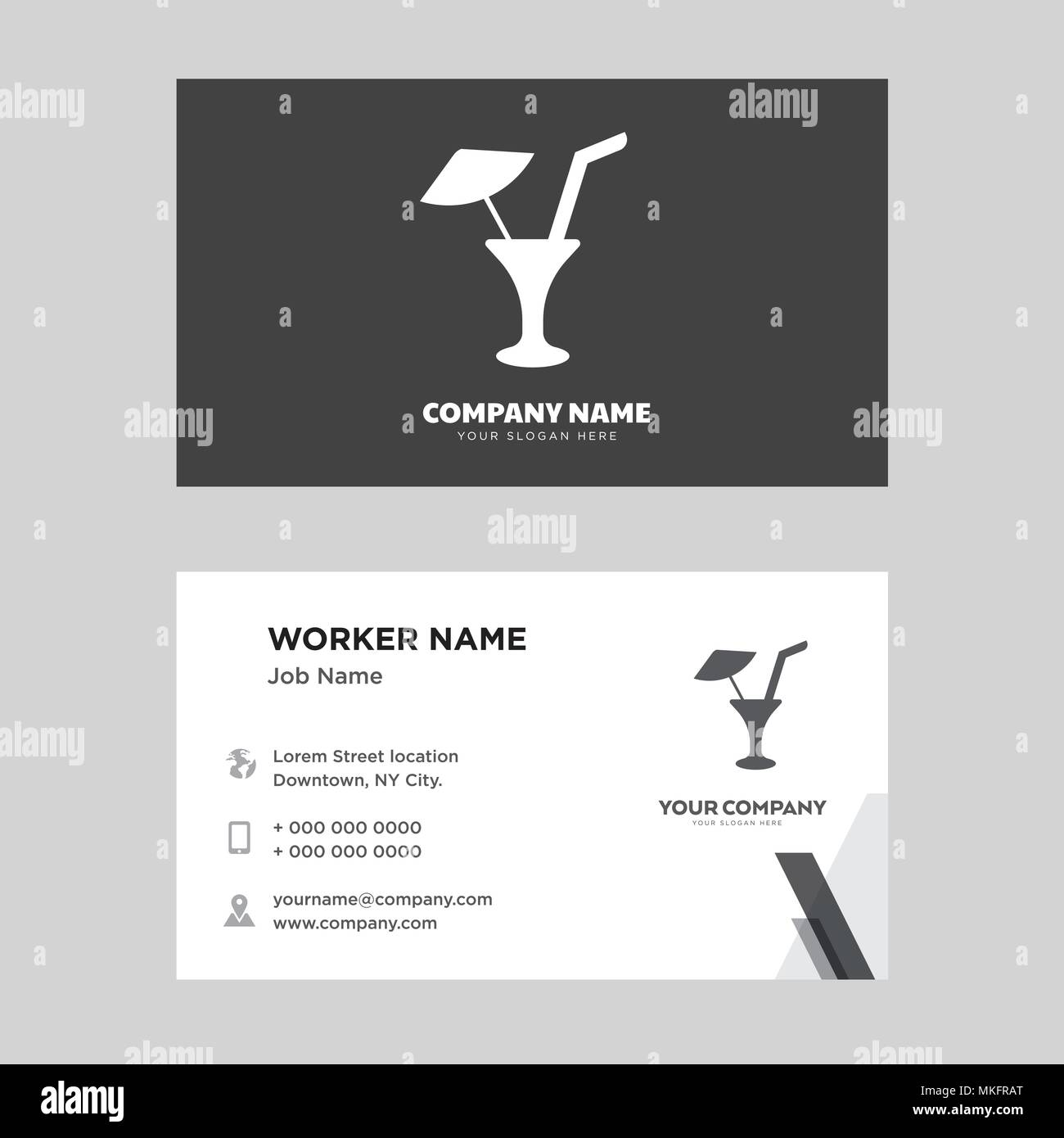 limonade with drop business card design template visiting for your