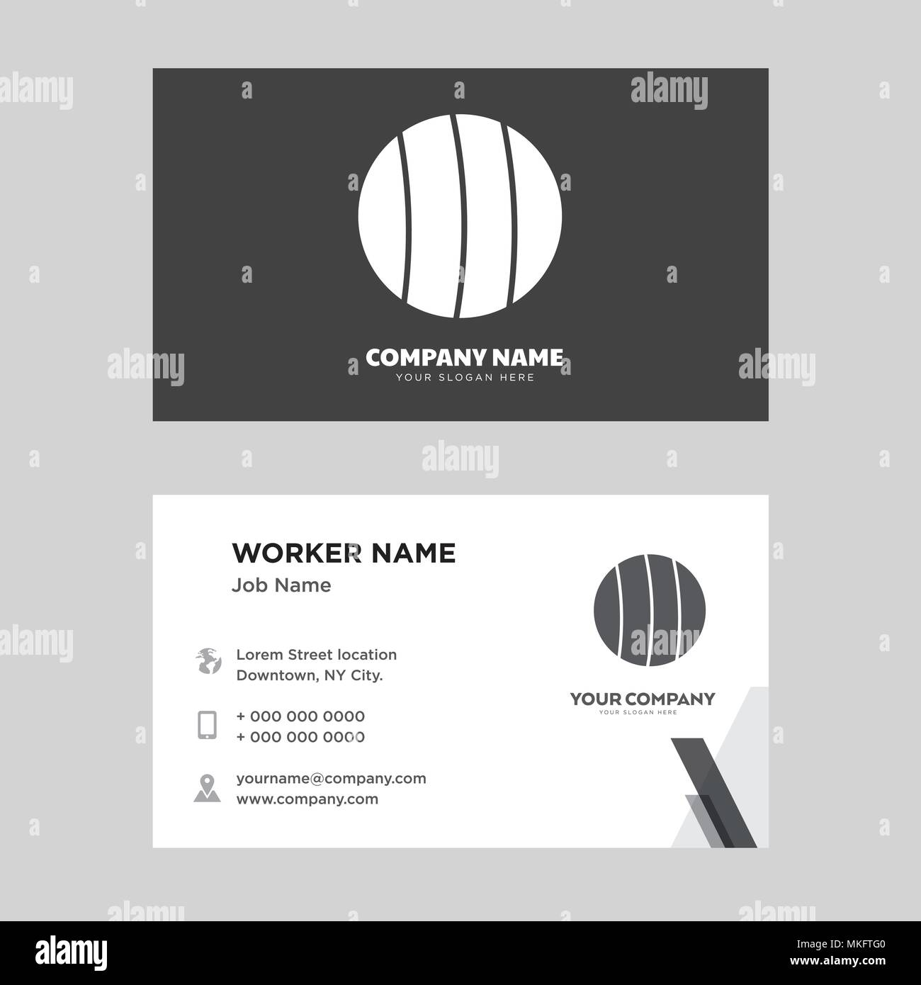 Soccer business card design template, Visiting for your company ...