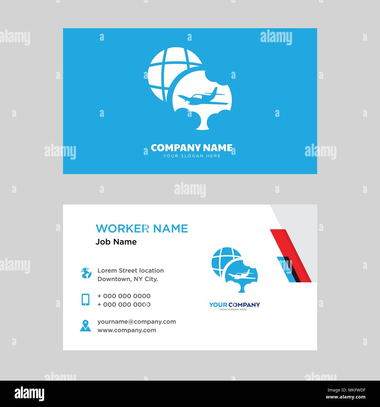 Travel business card design template, Visiting for your company ...