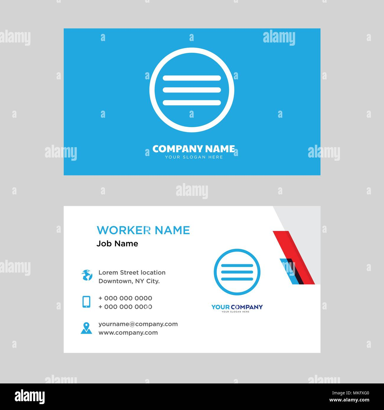 Menu business card design template visiting for your company menu business card design template visiting for your company modern horizontal identity card vector flashek Image collections