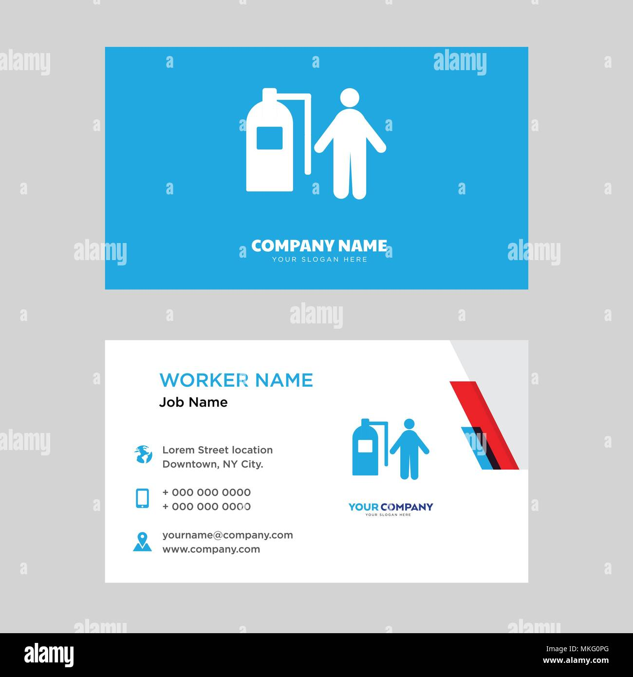 Firefighter Business Card Design Template Visiting For Your Company