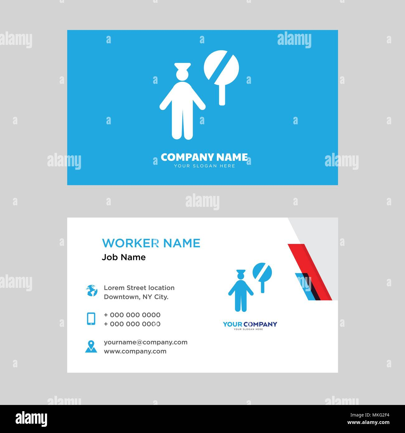 Police business card design template, Visiting for your company ...