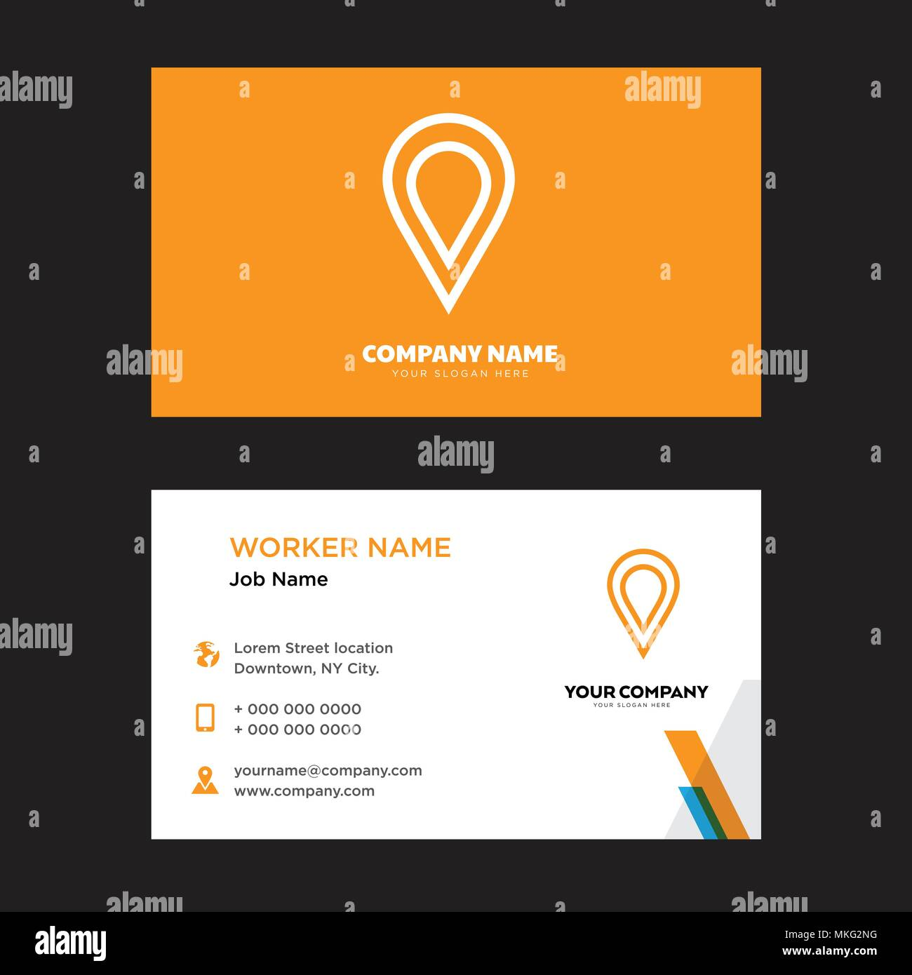 Placeholder business card design template visiting for your company placeholder business card design template visiting for your company modern horizontal identity card vector reheart Images