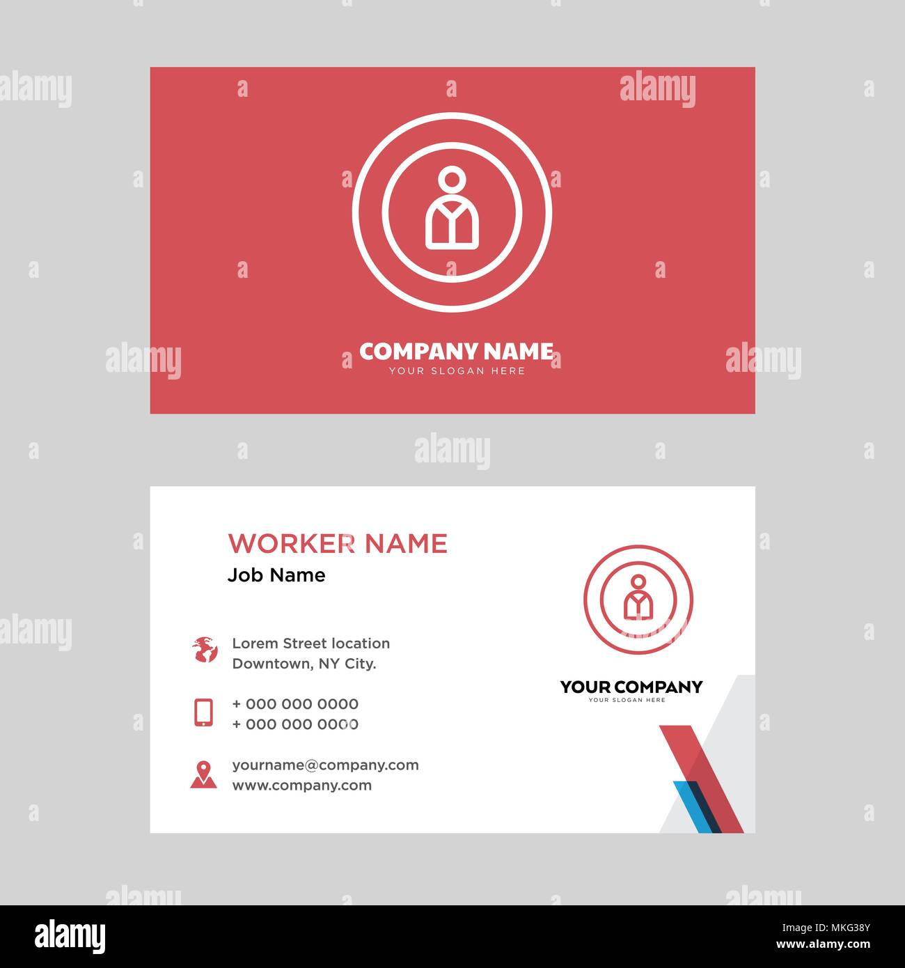 man business card design template visiting for your company modern