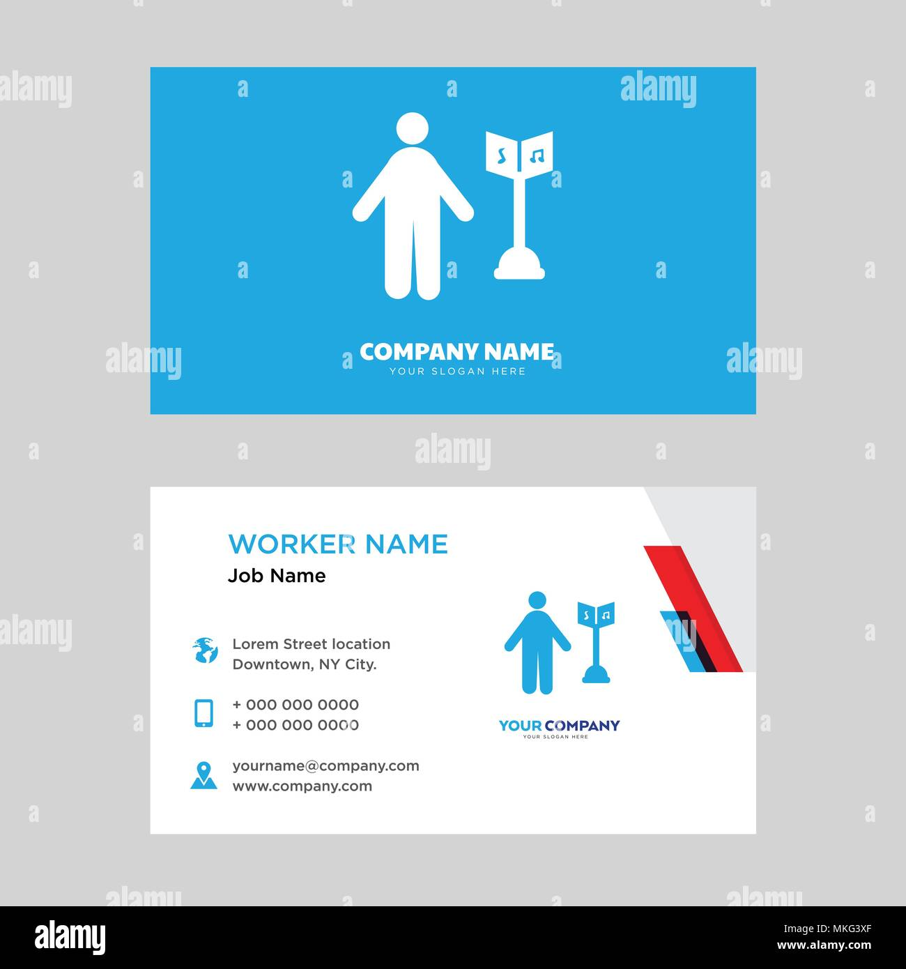 Musician business card design template, Visiting for your company ...