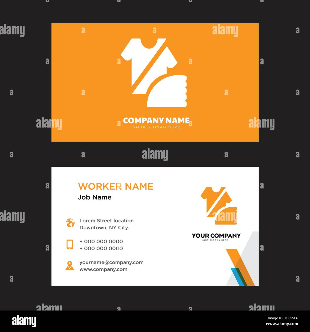 Fashion Business Card Design Template Visiting For Your Company Modern Horizontal Identity Vector