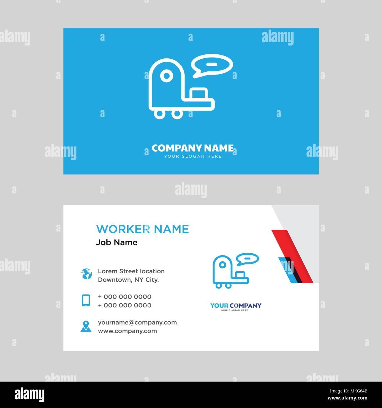 Customer support business card design template, Visiting for your Regarding Customer Information Card Template