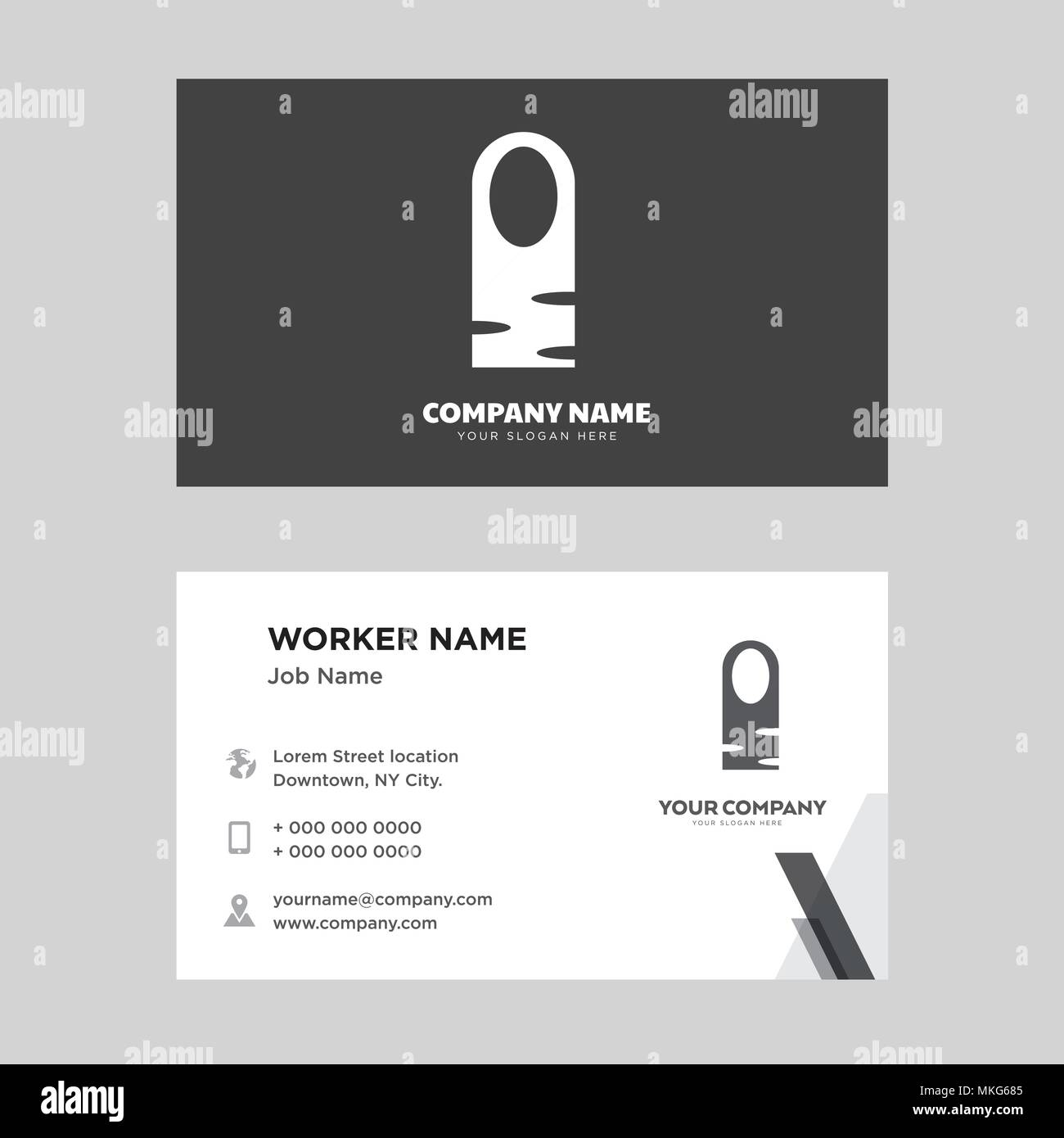 Long Nail Business Card Design Template Visiting For Your Company