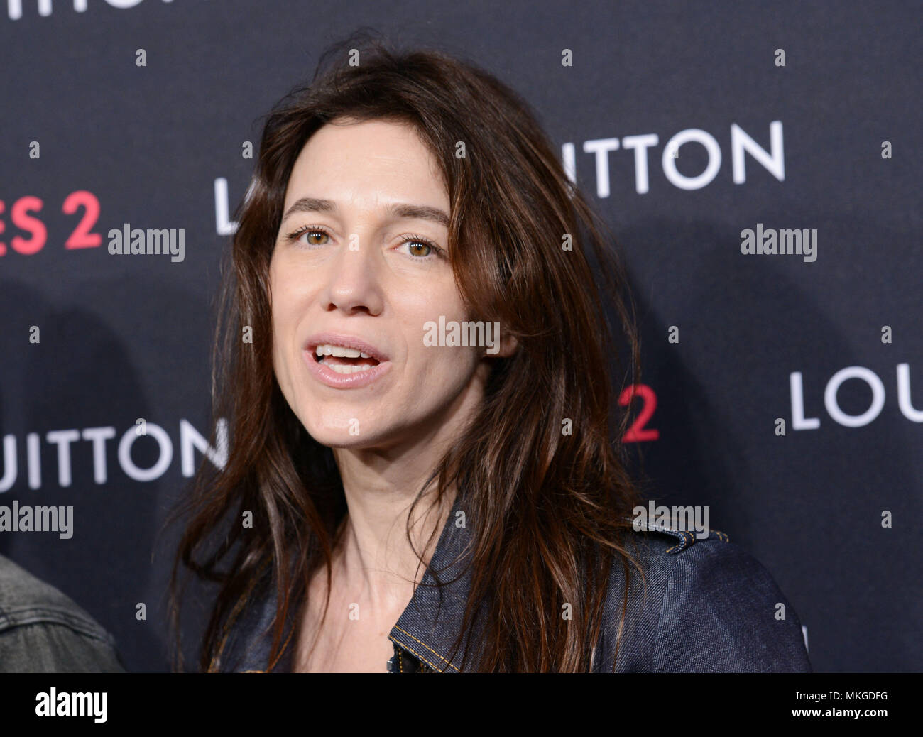 Charlotte Gainsbourg 029 at  the Louis Vuitton Series 2 exhibition  at 1135 north Highland in Los Angeles.  February 5, 2015Charlotte Gainsbourg 029  Event in Hollywood Life - California,  Red Carpet Event, Vertical, USA, Film Industry, Celebrities,  Photography, Bestof, Arts Culture and Entertainment, Topix Celebrities fashion / one person, Vertical, Best of, Hollywood Life, Event in Hollywood Life - California,  Red Carpet and backstage, USA, Film Industry, Celebrities,  movie celebrities, TV celebrities, Music celebrities, Photography, Bestof, Arts Culture and Entertainment,  Topix, headsho - Stock Image
