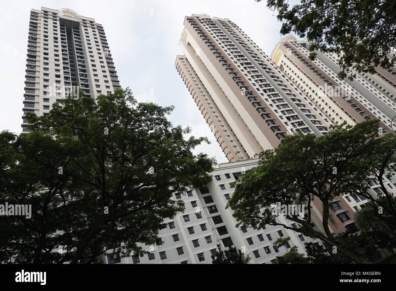 HDB flats in Toa Payoh, Singapore - Stock Image