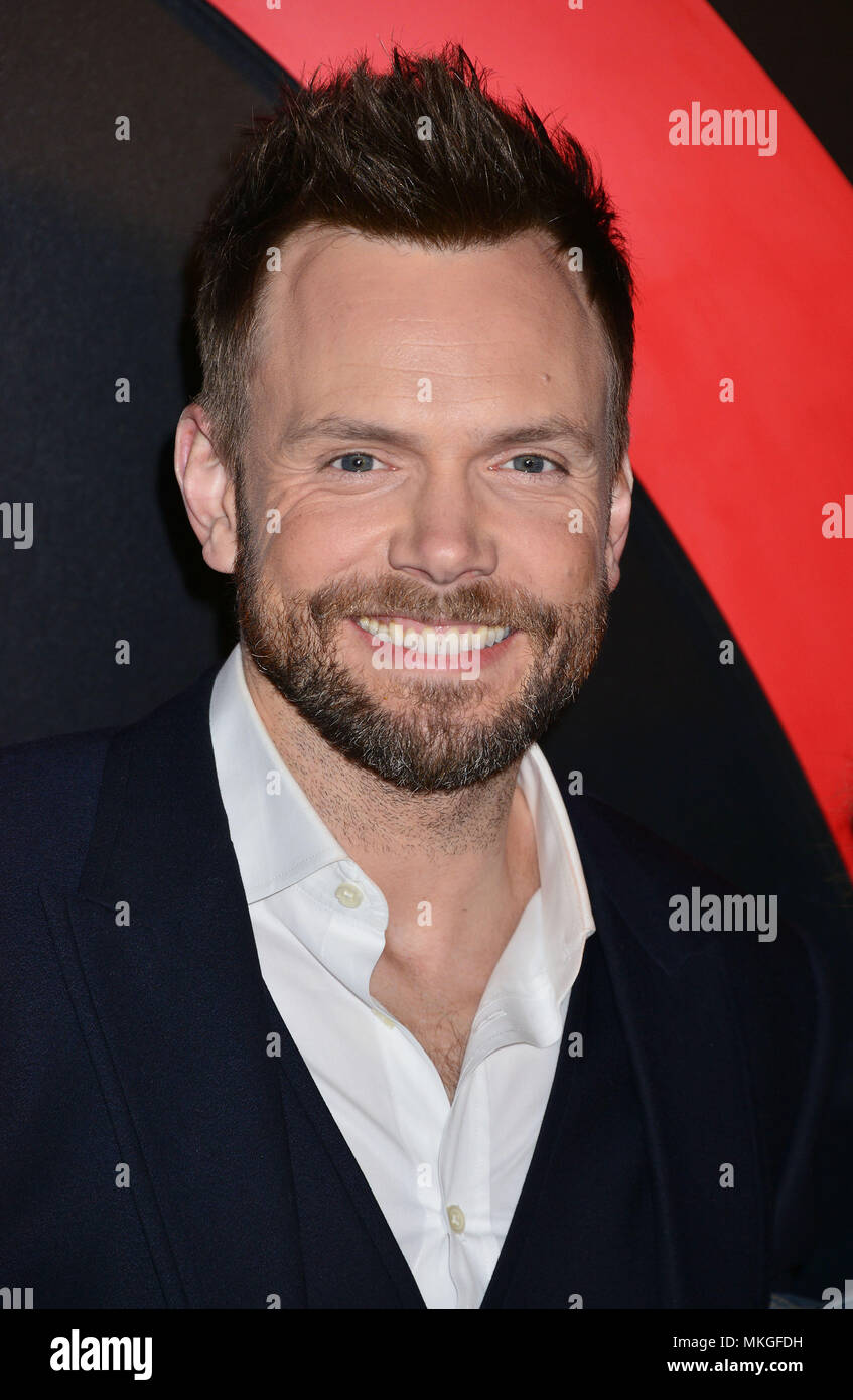 Joel McHale 033  at The X-Files Premiere at California Science Center in Los Angeles, CA  January 12, 2016.Joel McHale 033  Event in Hollywood Life - California,  Red Carpet Event, Vertical, USA, Film Industry, Celebrities,  Photography, Bestof, Arts Culture and Entertainment, Topix Celebrities fashion / one person, Vertical, Best of, Hollywood Life, Event in Hollywood Life - California,  Red Carpet and backstage, USA, Film Industry, Celebrities,  movie celebrities, TV celebrities, Music celebrities, Photography, Bestof, Arts Culture and Entertainment,  Topix, headshot, vertical, from the year - Stock Image