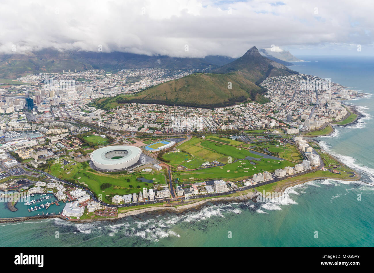 Aerial view of Cape Town, South Africa - Stock Image