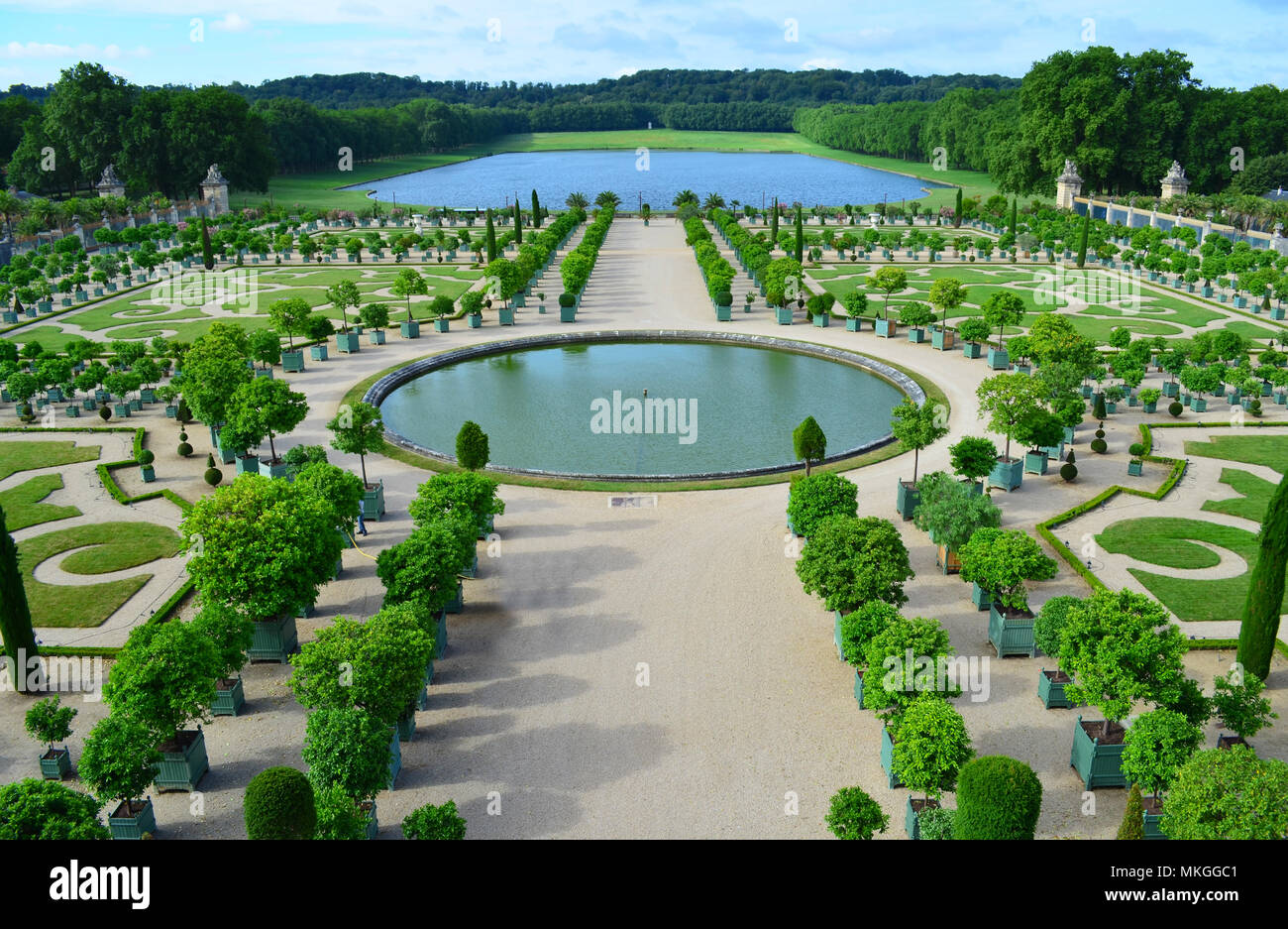 L'Orangerie in the Gardens of Versailles, France - Stock Image