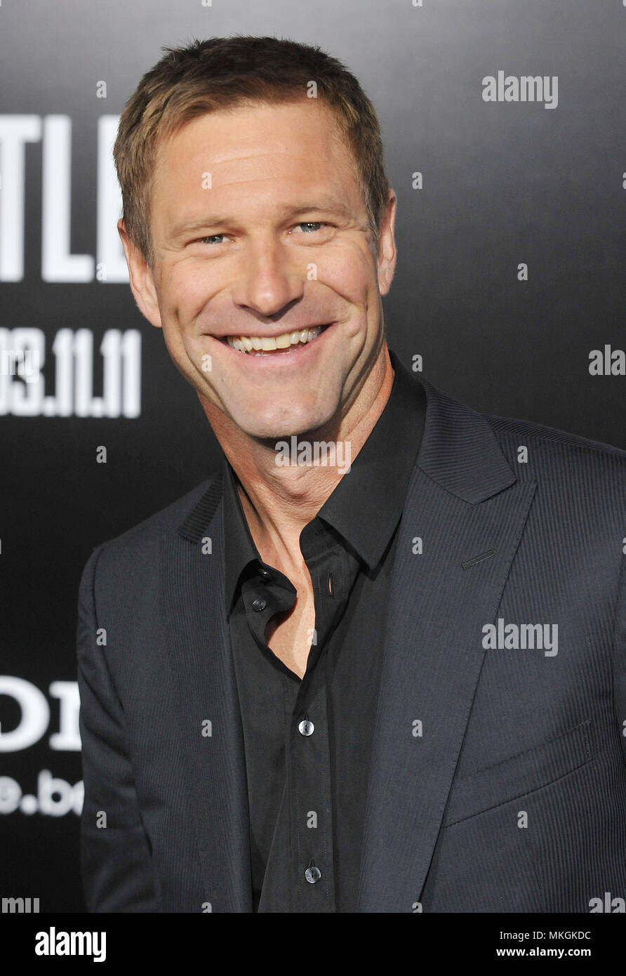 Aaron Eckhart Battle Los Angeles Premiere At The Westwood Village Theatre In
