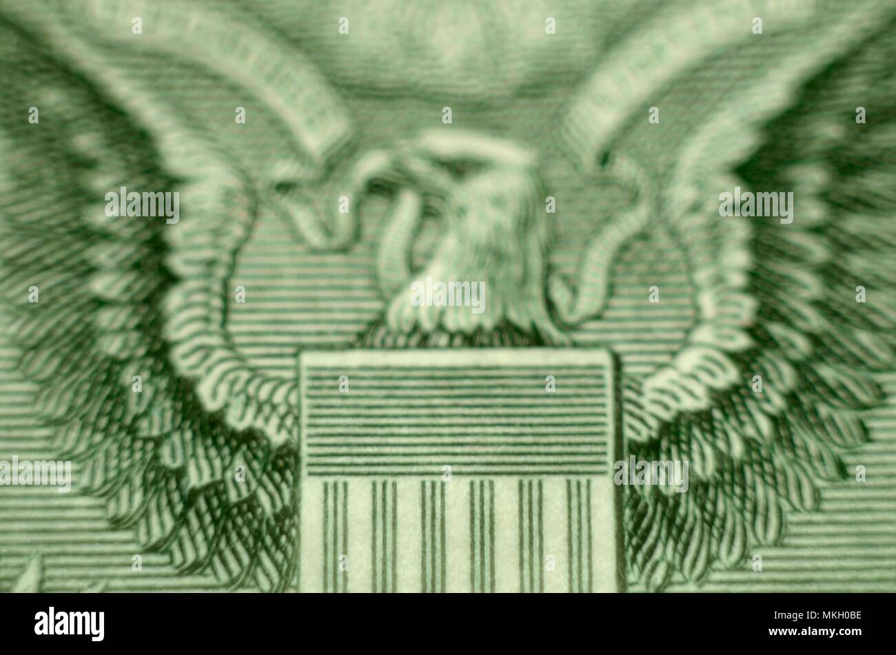 US Dollar Extreme Close-Up Coat of Arms - Stock Image