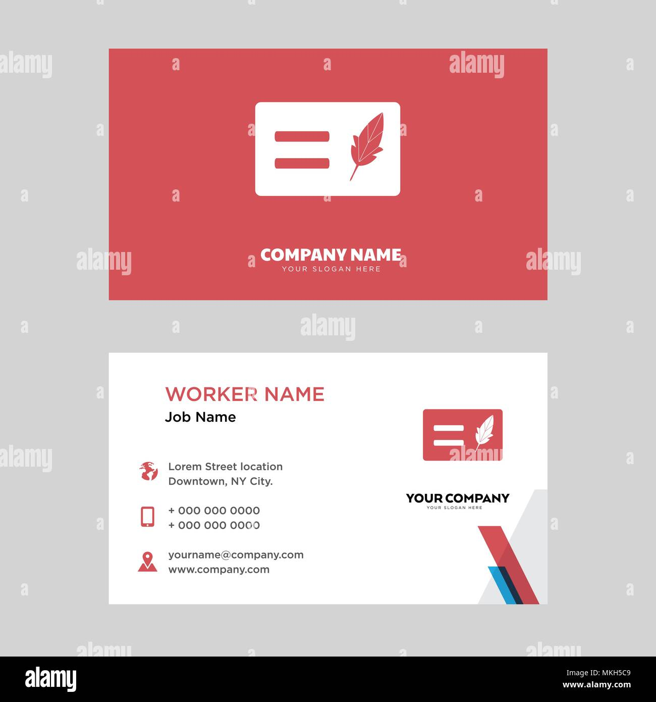 Papyrus business card design template, Visiting for your company ...