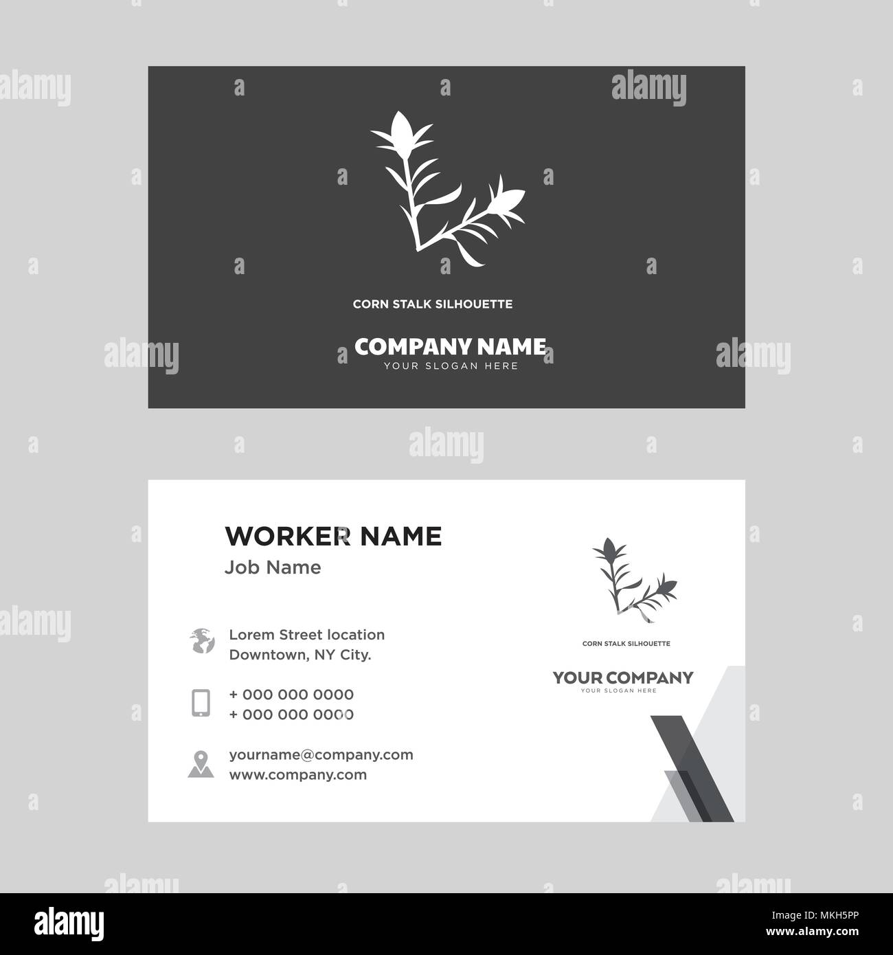 corn stalk business card design template, Visiting for your company ...