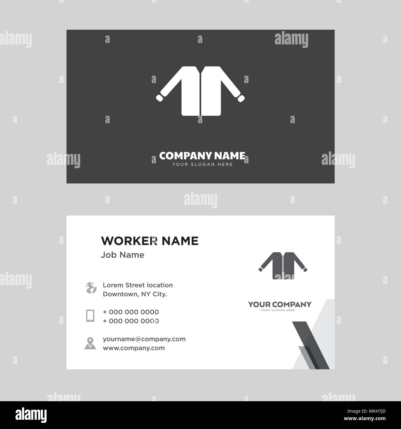 uniform business card design template visiting for your company