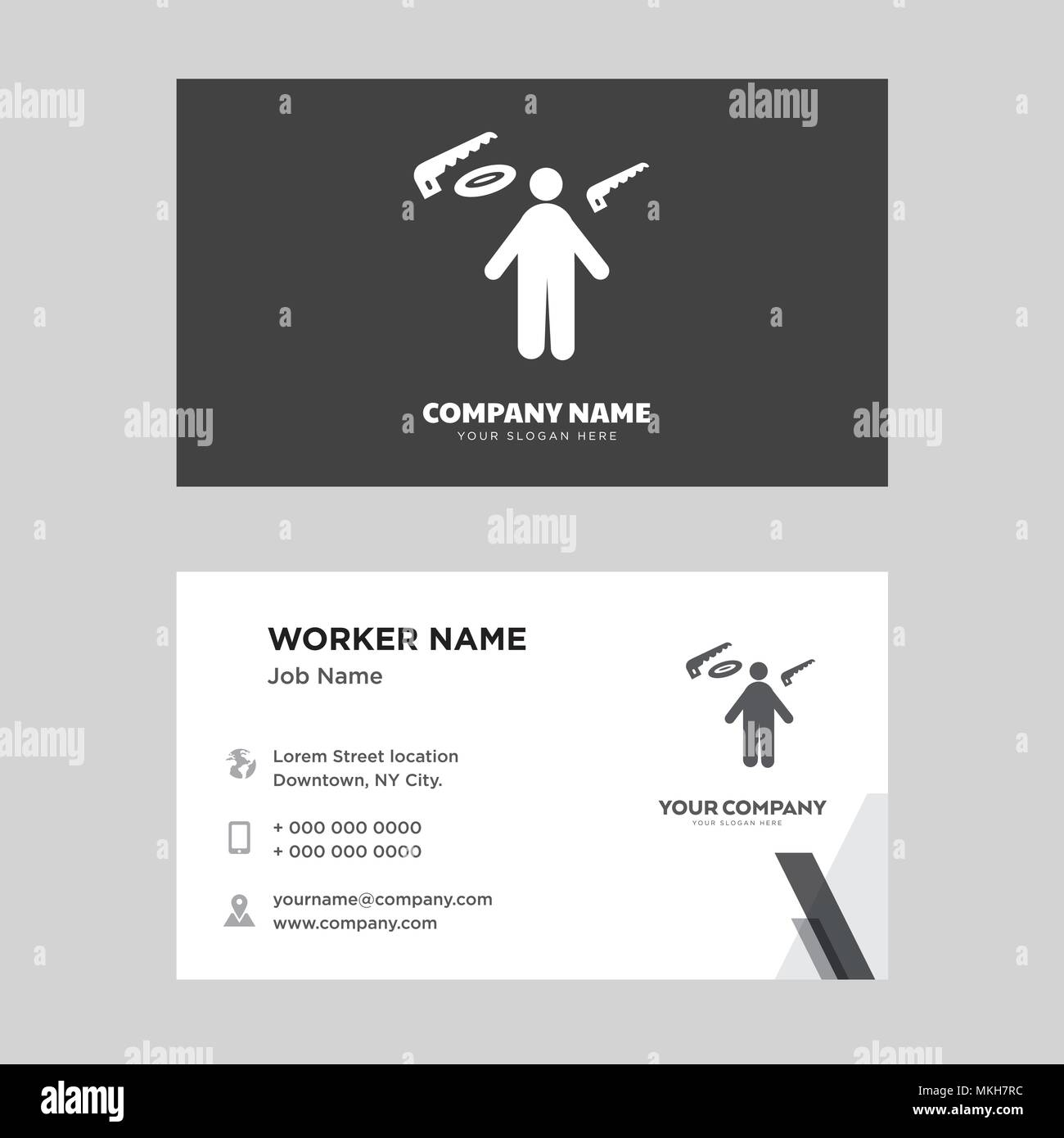 Carpenter business card design template visiting for your company carpenter business card design template visiting for your company modern horizontal identity card vector cheaphphosting Gallery