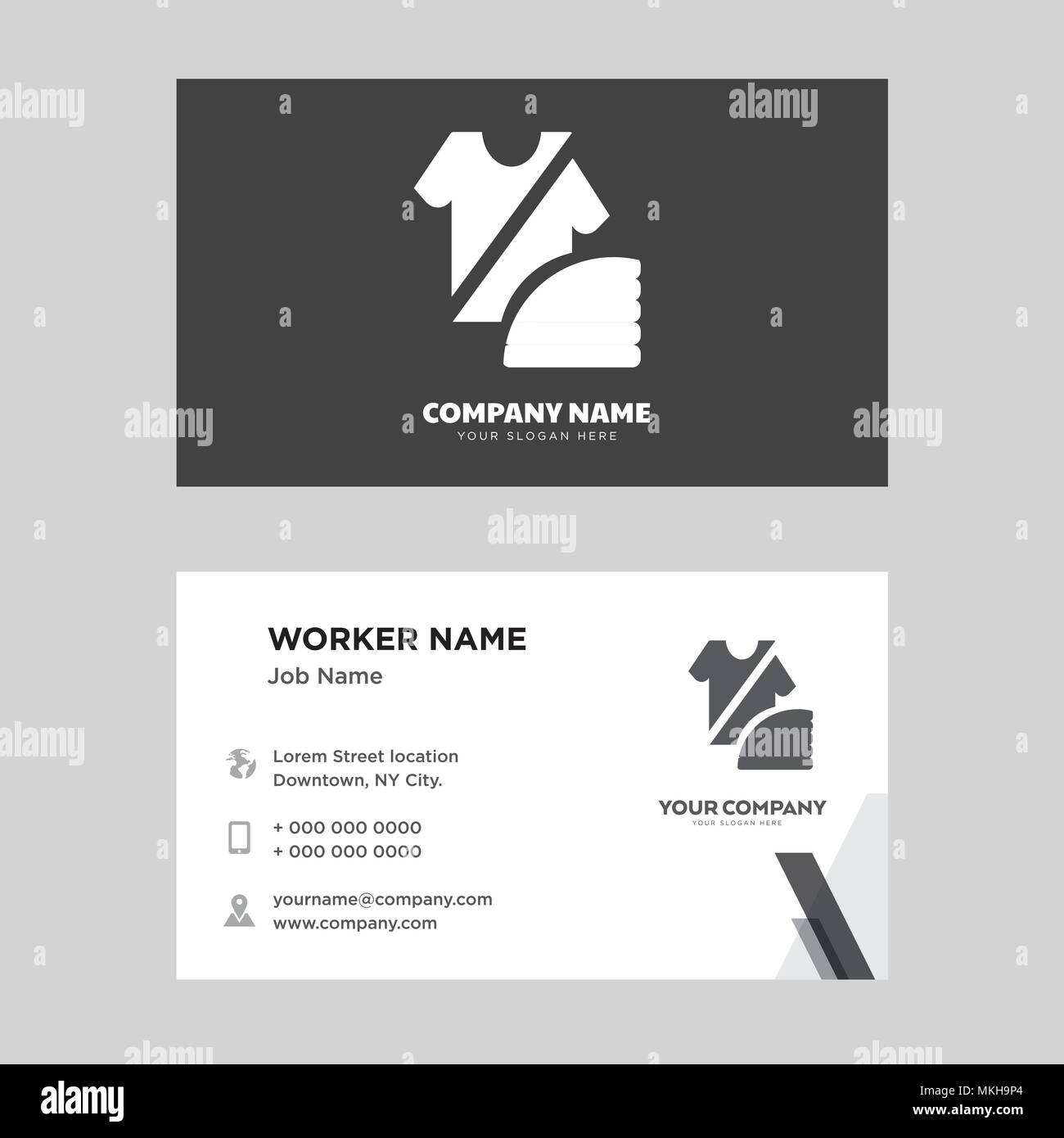 Fashion Business Card Design Template Visiting For Your Company Modern Horizontal Identity Card Vector Stock Vector Image Art Alamy