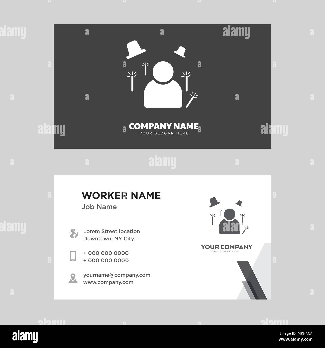 Magician business card design template, Visiting for your company ...