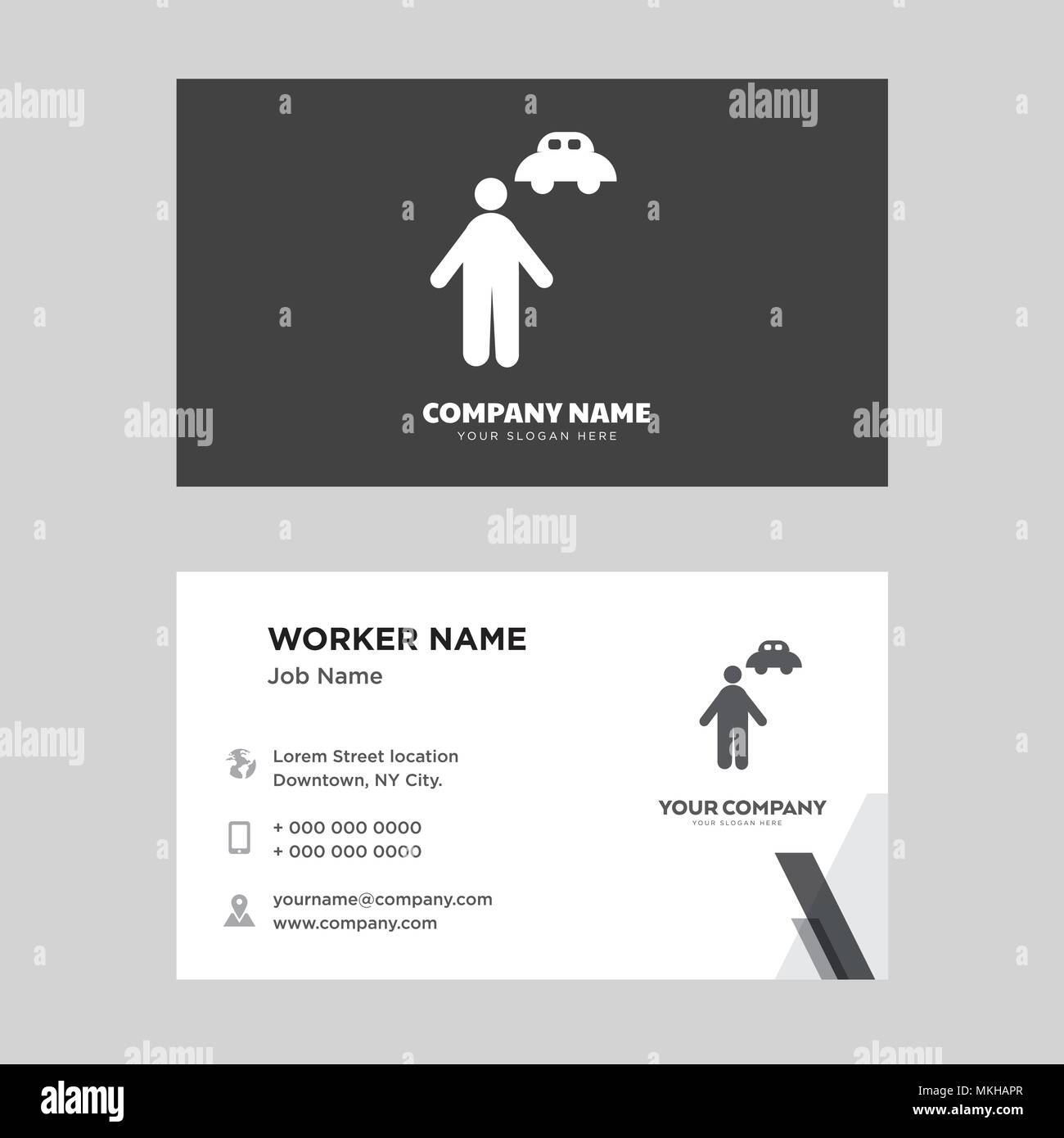 Chauffeur business card design template, Visiting for your company ...