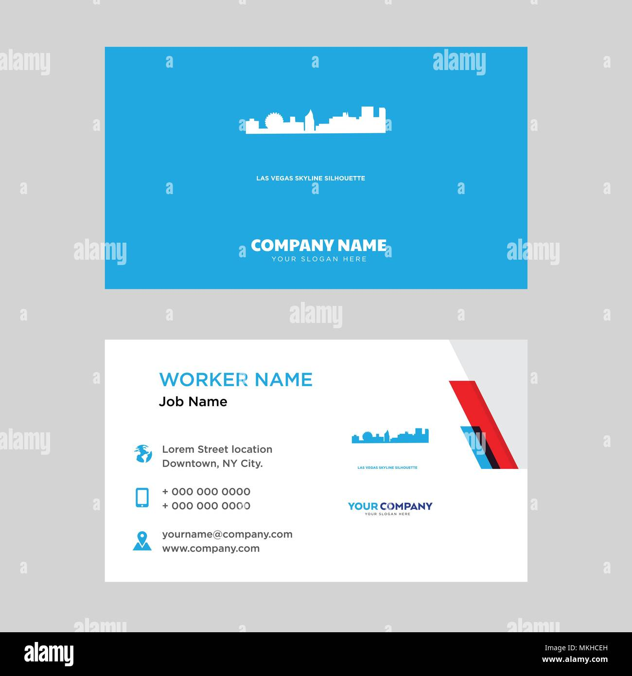 Las Vegas Sky Business Card Design Template Visiting For Your