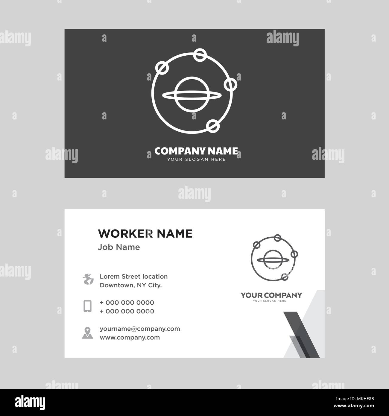 Outer space business card design template visiting for your company outer space business card design template visiting for your company modern horizontal identity card vector colourmoves
