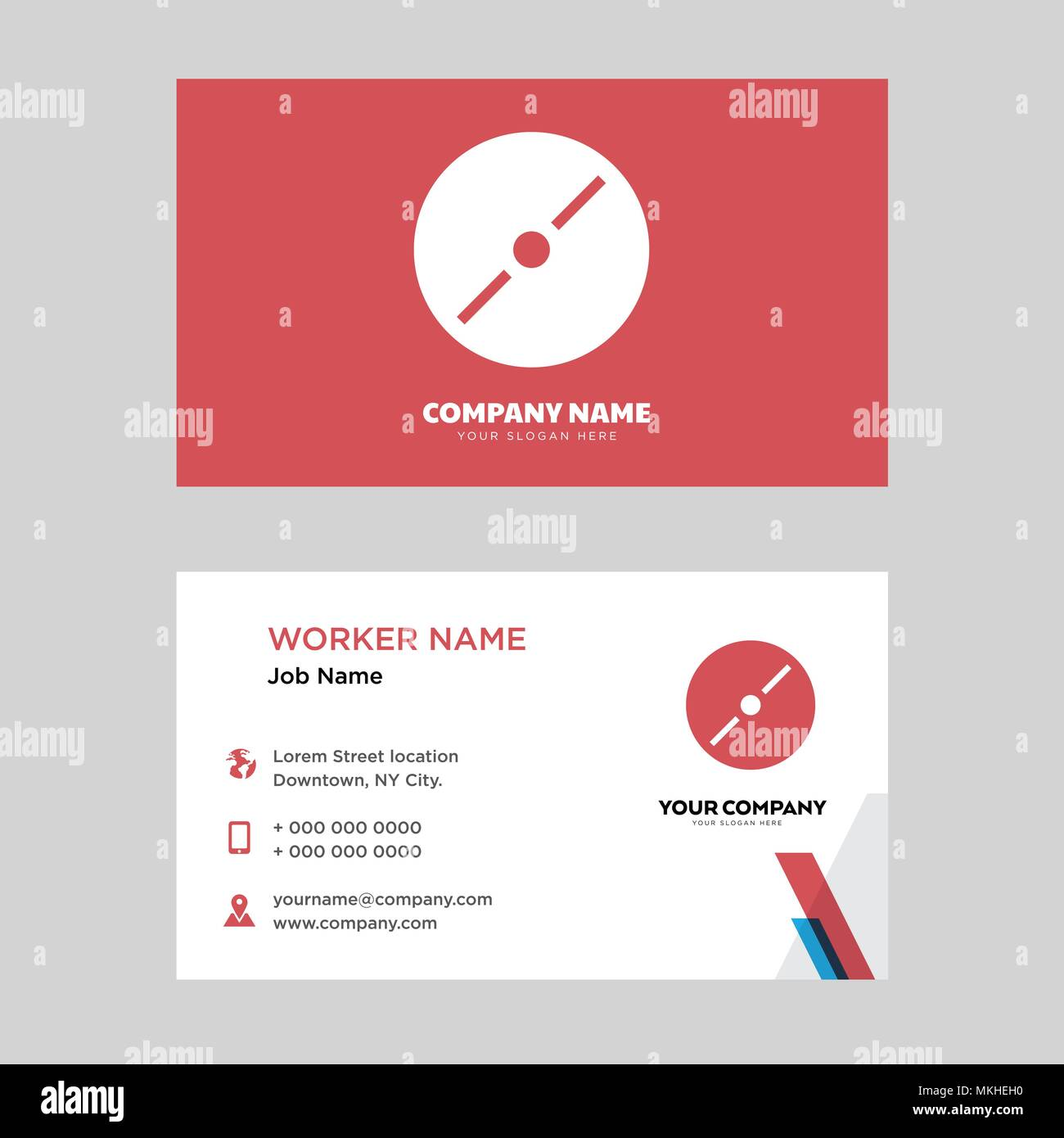 Disc business card design template, Visiting for your company ...