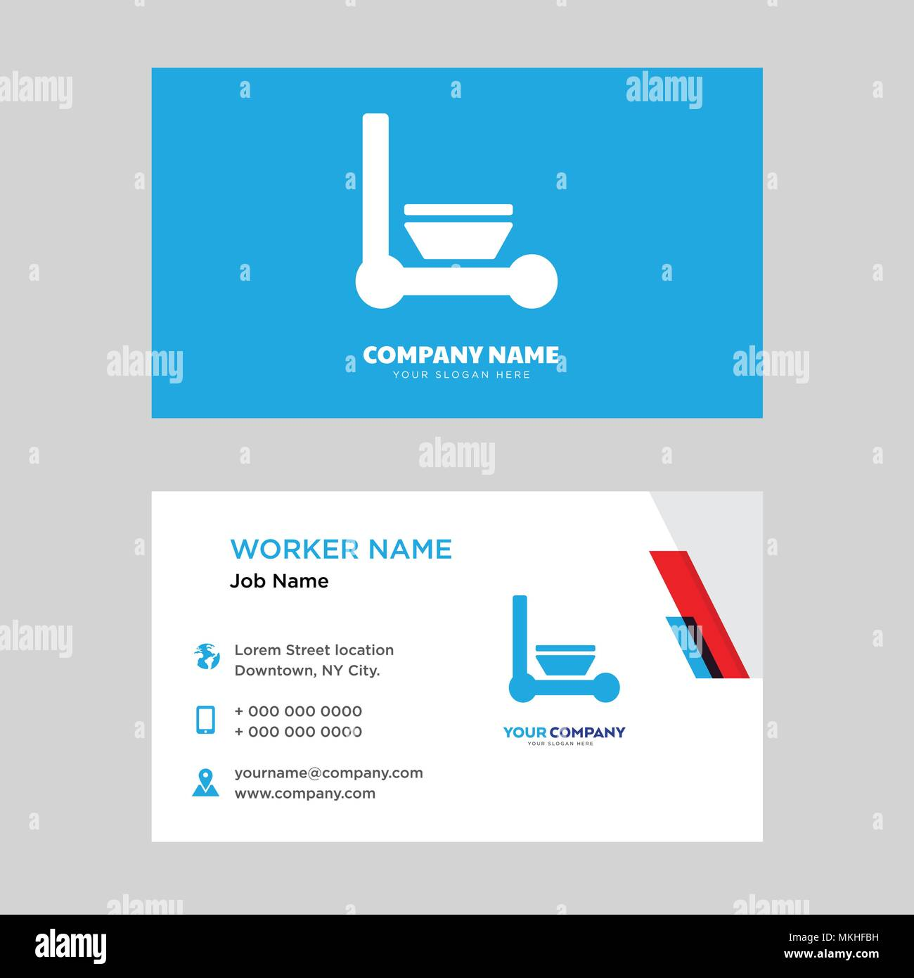 Cleaning business card design template, Visiting for your company ...