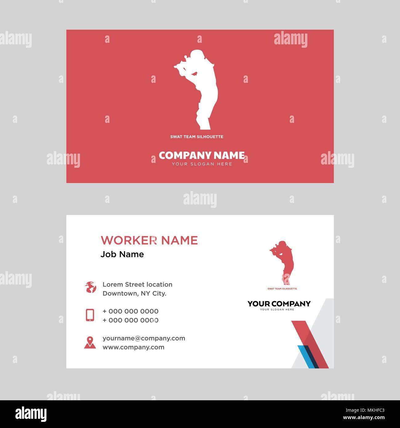 Swat team business card design template visiting for your company swat team business card design template visiting for your company modern horizontal identity card vector colourmoves