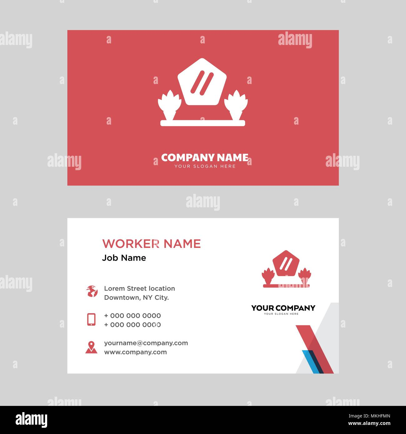 Mirror business card design template, Visiting for your company ...