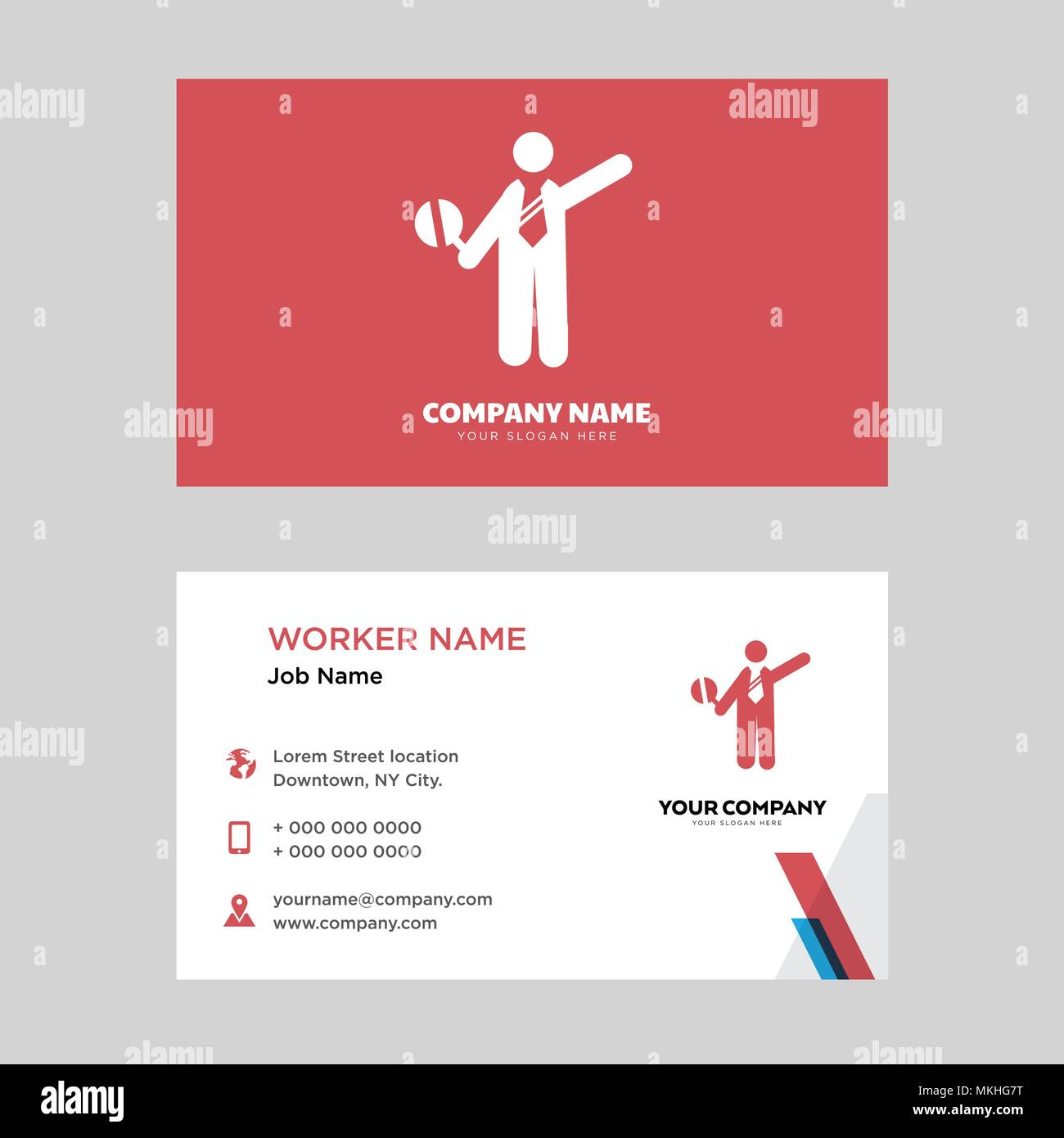 traffic police business card design template, Visiting for your ...