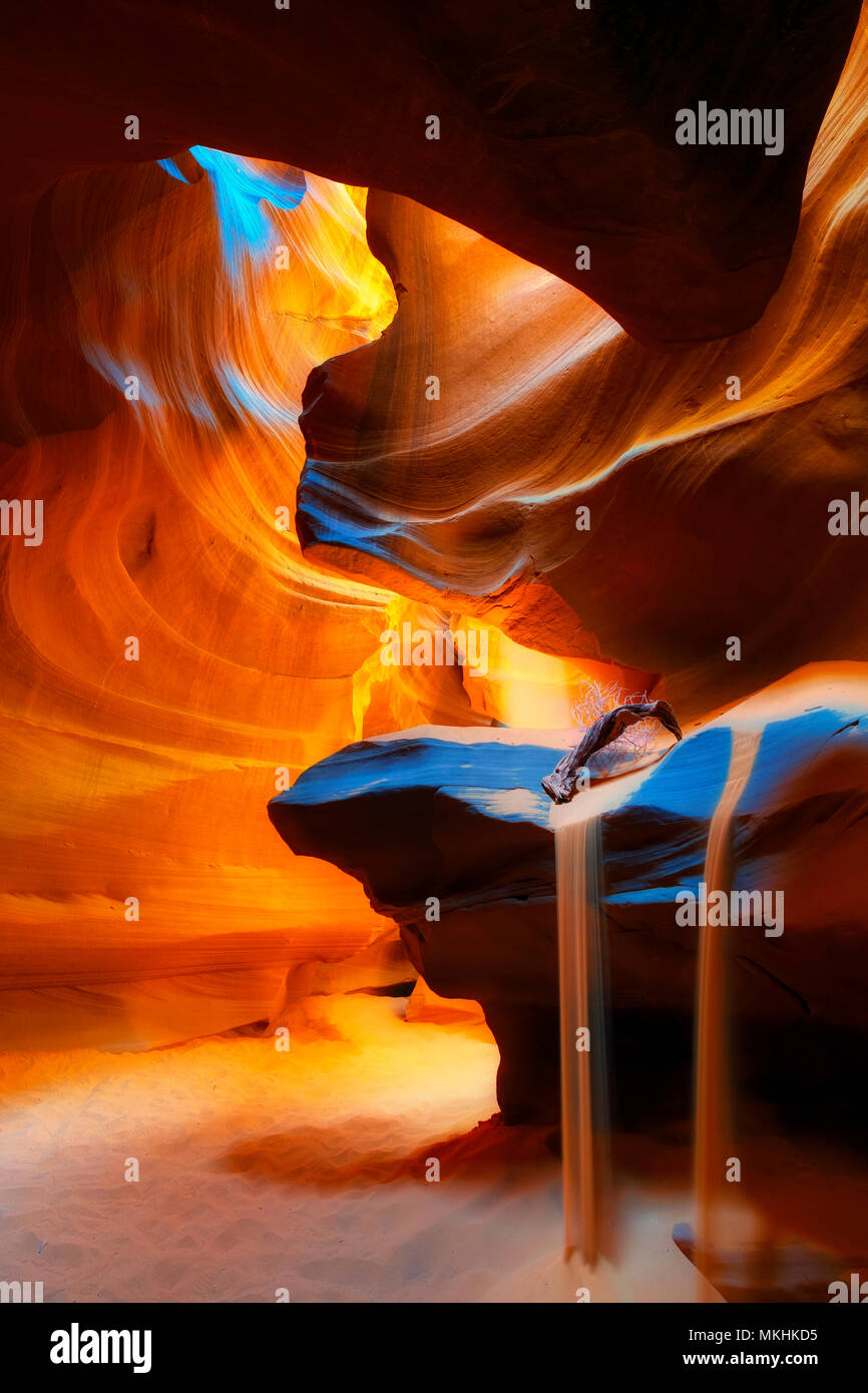 Upper canyon, Antelope Canyon, Page, Arizona, USA Stock Photo