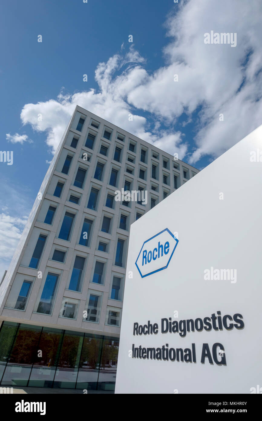 Roche Diagnostics International AG headquarters in Rotkreuz, Zug, Switzerland, Europe - Stock Image