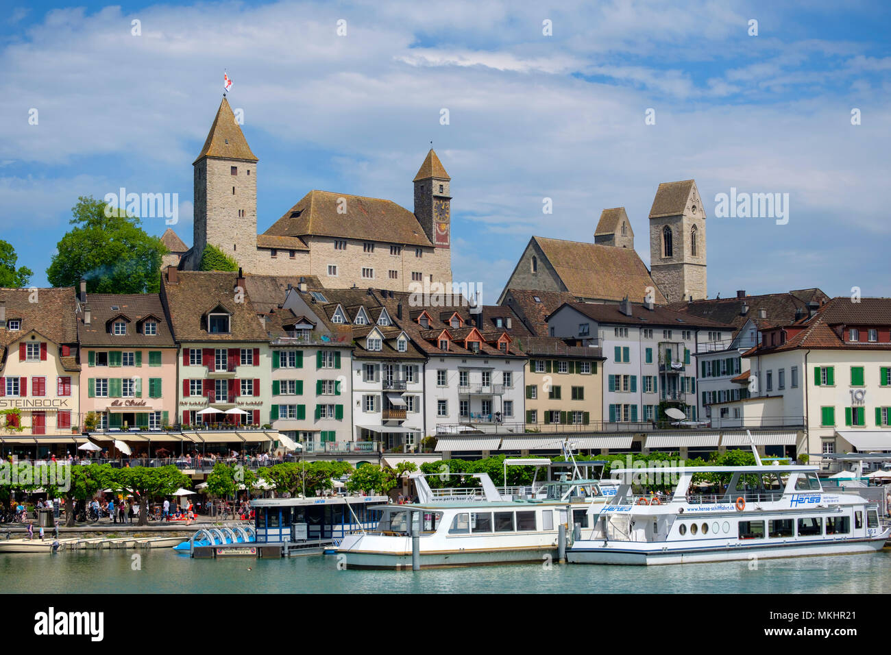 Scenic view of Rapperswil, Rapperswil-Jona, Switzerland, Europe - Stock Image