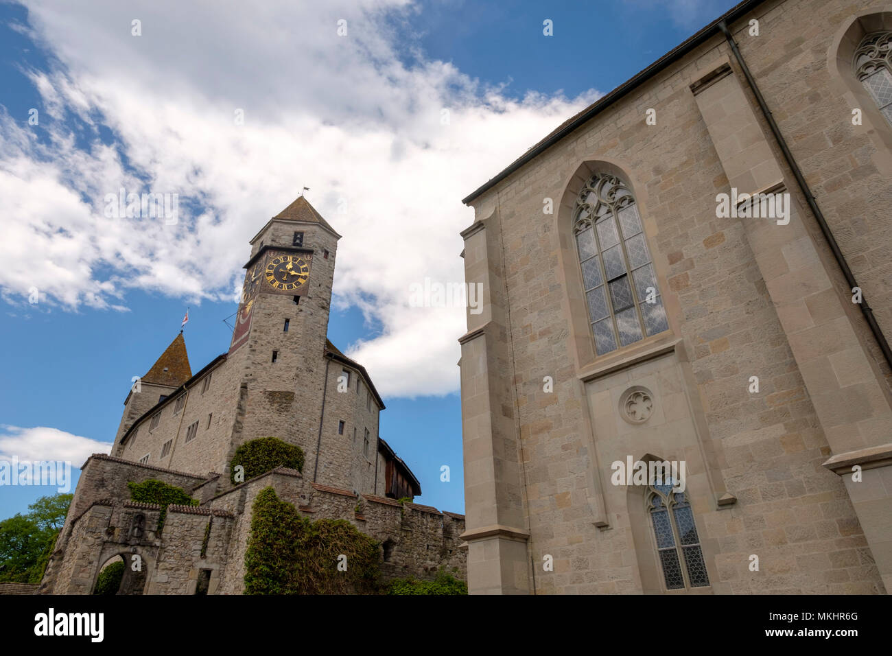 Rapperswil castle in Rapperswil-Jona, Switzerland, Europe - Stock Image