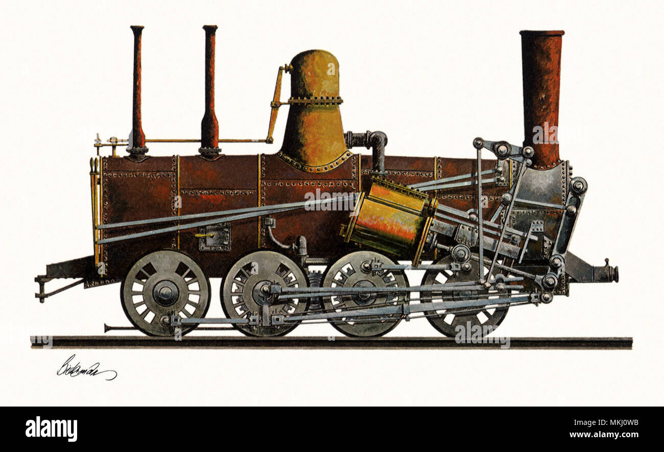 One of the Earliest Trains, The Monster - Stock Image